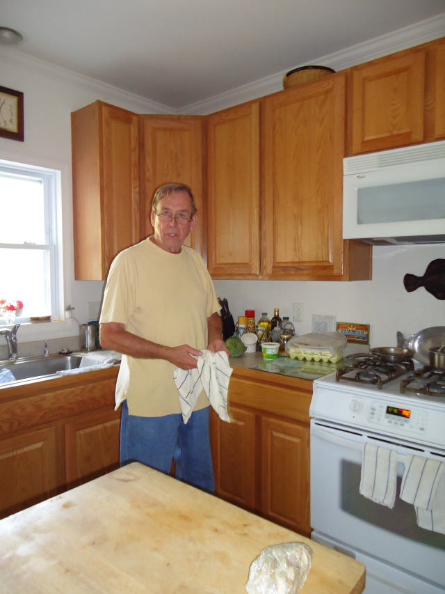 Our host and expert chef, Ralph Kelly, slaving in the kitchen