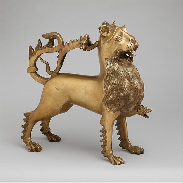 Aquamanile from the Metropolitan Museum of Art, circa 1400.