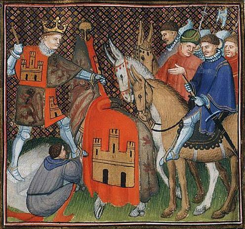 King Alfonse IX, the Slobberer.