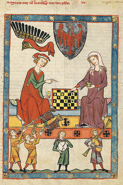 Women playing chess.