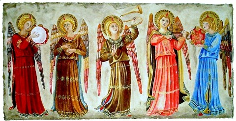 Angels with halos.
