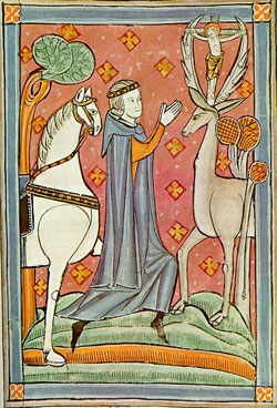 Saint Hubert's miraculous vision.