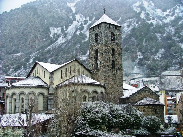 A Romanesque church in Andorra